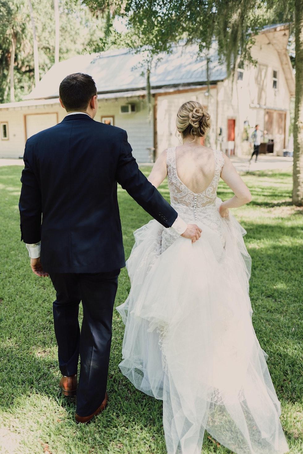 wedding celebrant ceremony with bride and groom